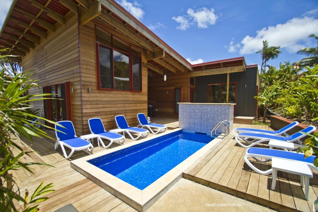 Each holiday home has its own private swimming pool