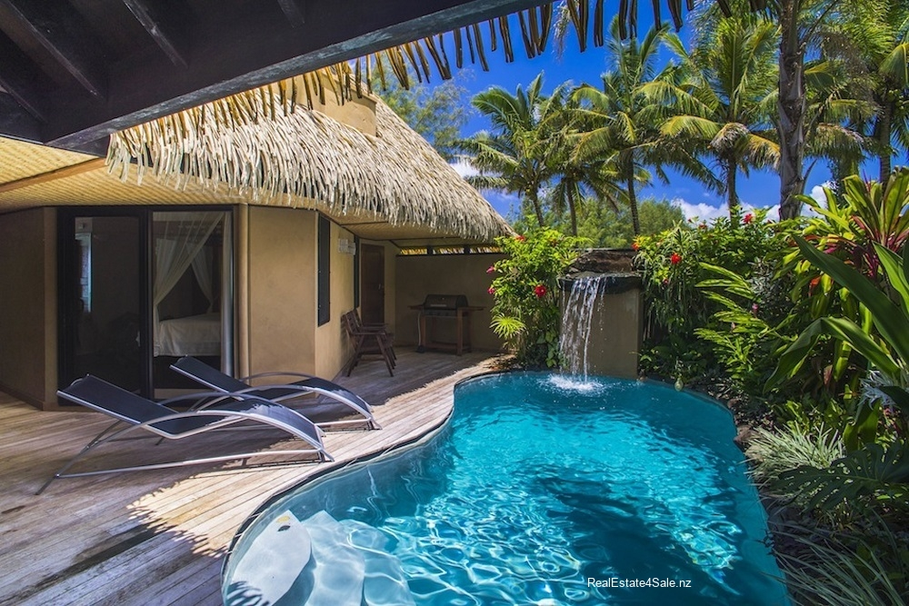 Each villa has a private gated courtyard with private pool
